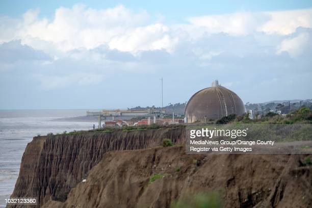 """The shuttered San Onofre Nuclear Generation Station in San Clemente, California, January 23, 2017. The problem of """"stranded"""" nuclear waste - millions..."""