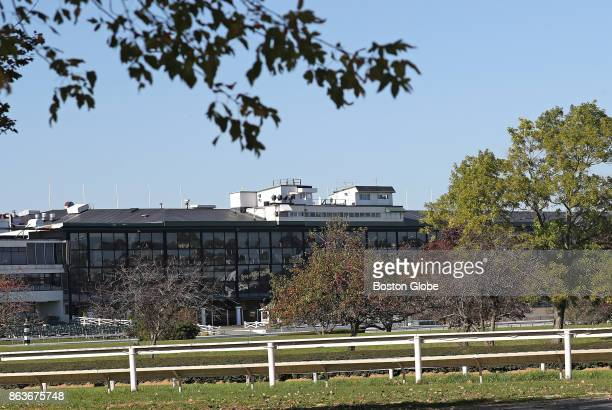 The shuttered Suffolk Downs horse racing track in Boston is pictured on Oct 19 2017 Suffolk Downs is the primary proposed site for Amazons new $5...