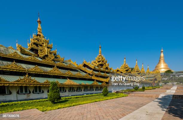 The Shwedagon Pagoda officially titled Shwedagon Zedi Daw also known in English as the Great Dagon Pagoda and the Golden Pagoda
