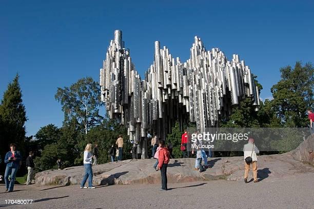 The Sibelius monument by sculptor Eila Hiltunen Helsinki