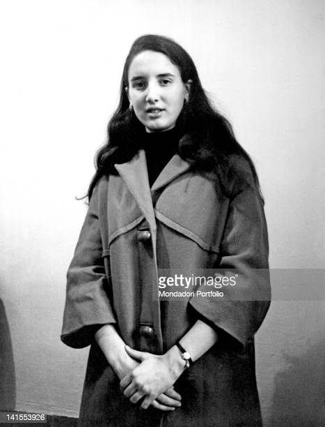 The Sicilian girl Franca Viola posing during the trial of her abductors and rapists Trapani December 1966