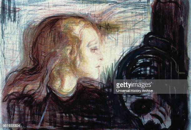 The Sick Child one of six paintings and a number of lithographs drypoints and etchings completed by the Norwegian artist Edvard Munch between 1885...
