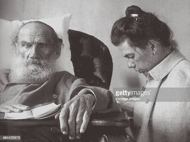 The Sick Leo Tolstoy with daughter Tatyana in Gaspra on the Crimea.
