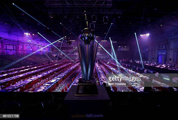 The Sid Waddell Trophy on show ahead of day fourteen of the 2015 William Hill PDC World Darts Championships at Alexandra Palace on January 4, 2015 in...