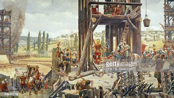 The siege of Alesia in 52 BC by Henry Paul Motte Conquest of Gaul France 1st century BC