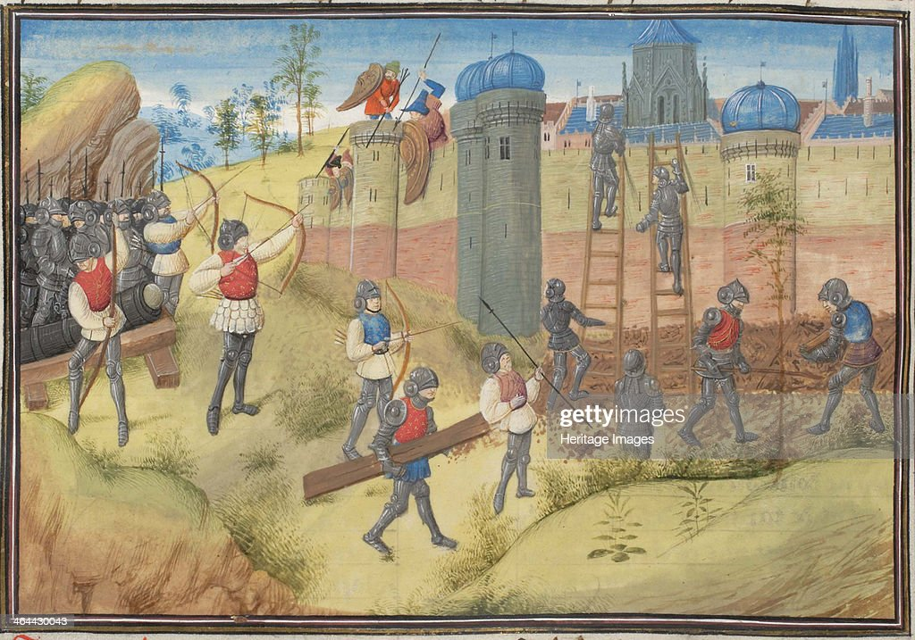 The Siege of Jerusalem, 1099. Miniature from the Historia by William of Tyre, 1460s. Artist: Anonymous : News Photo