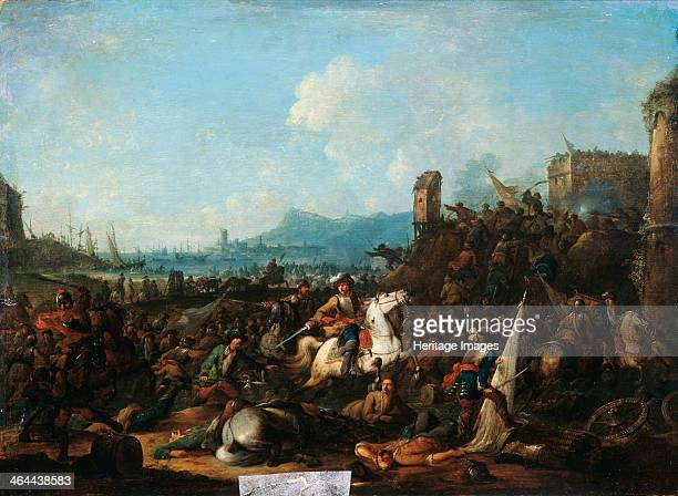 'The Siege of La Rochelle in October 1628' early 18th century Found in the collection of the State Art Museum Tula Russia