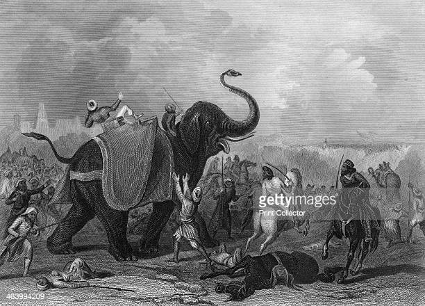 'The Siege of Mooltan' India 1849 The Houdah of Mulraj's elephant struck by a cannon ball The Siege of Multan was precipitated by a revolt in the...