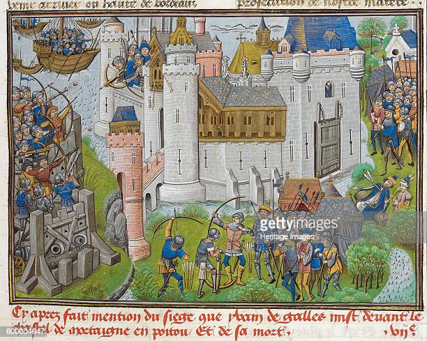 The Siege of the Castle of Mortagne near Bordeaux in 1377 ca 14701480 Found in the collection of British Library Artist Anonymous