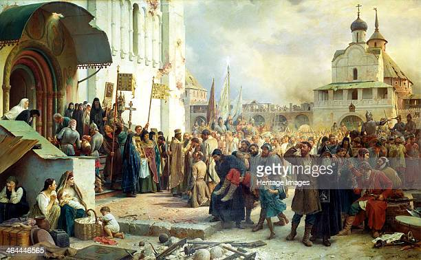 'The Siege of the Trinity Sergius Lavra in Sergiev Posad' 1891 The Trinity Lavra of St Sergius was founded in Sergiyev Posad Russia in 1345 by St...