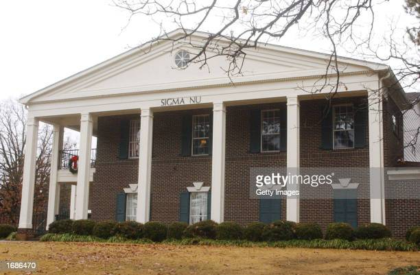 The Sigma Nu Fraternity House is shown December 13 2002 in Oxford Mississippi Former CNN President Tom Johnson then a Sigma Nu member at the...