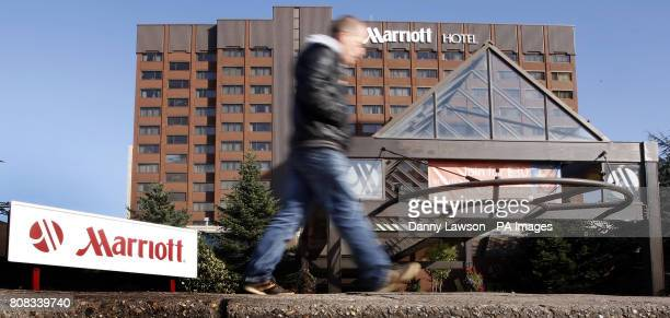 The sign at the Glasgow Marriott Hotel on Argyle Street where NHS Greater Glasgow and Clyde's Public Health Protection Unit is investigating the...