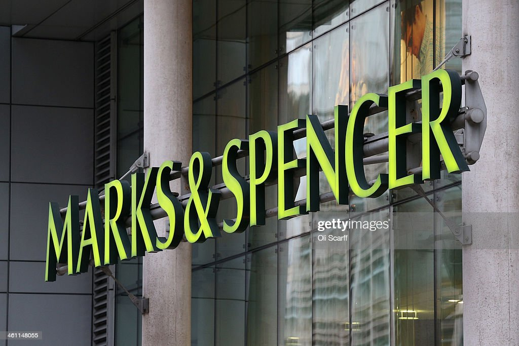 The sign for a branch of Marks & Spencer on January 7, 2014 in London, England. The food and clothing retailer, which has traded for 130 years, has seen a recent drop in share price as investors are predicting disappointing sales figures for the store's clothing division.