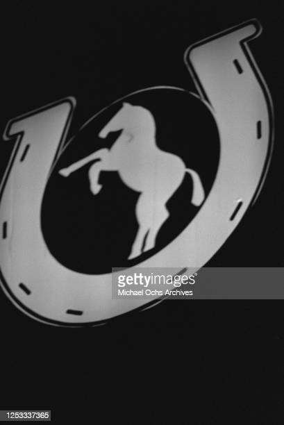 The sign for the Palomino Club on Lankershim Boulevard in North Hollywood, California, 16th July 1980. The nightclub is being used as a location for...