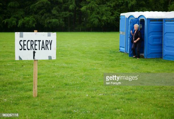 The sign for the show secretary is displayed during the Duncombe Park Country Fair on May 28 2018 in Helmsley England Set in the grounds of one of...