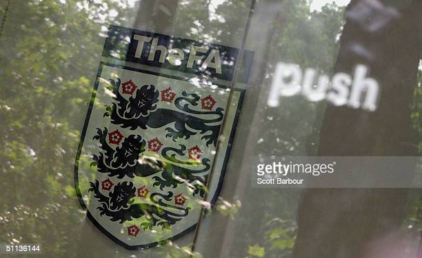 The sign inside the Football Association headquarters on August 2 2004 in London England The future of the England head coach SvenGoran Eriksson is...
