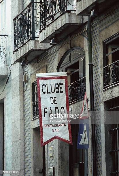 The sign of a club where fado is sung