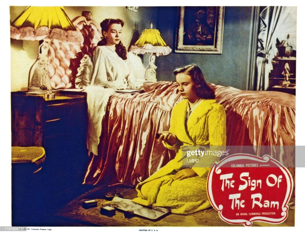 the-sign-of-the-ram-us-lobbycard-from-left-susan-peters-peggy-ann-picture-id1137323731