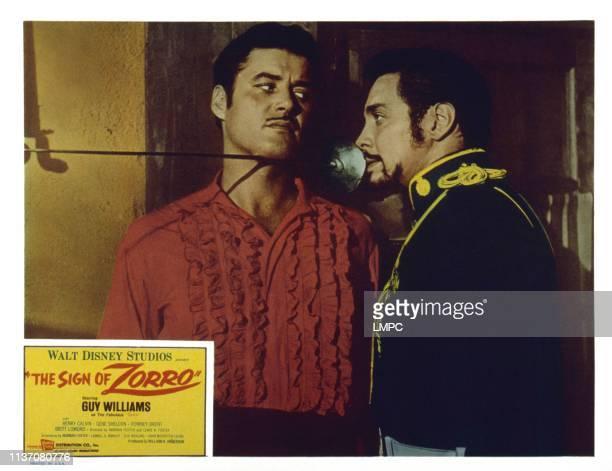 The Sign Of Zorro US lobbycard from left Guy Williams Britt Lomond 1958