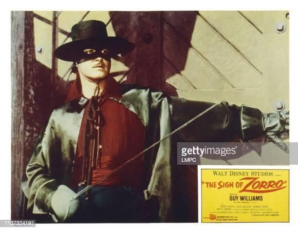 The Sign Of Zorro US lobbycard Guy Williams 1958