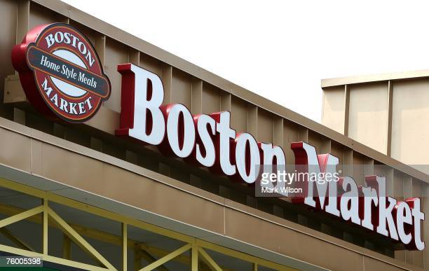 The sign on a Boston Market resturaunt is shown August 7 2007 in College Park Maryland McDonald's Corporation has agreed to sell the Boston Market...