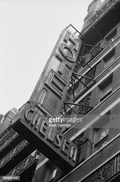 The sign outside the Hotel Chelsea in Chelsea Manhattan New York City 23rd July 1990
