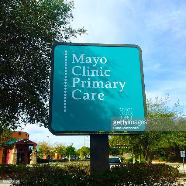 The sign outside the Mayo Clinic Primary Care facility at Jacksonville Beach Florida USA