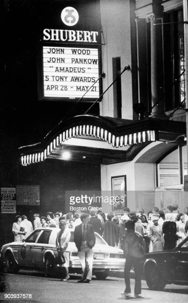 The sign outside the Shubert Theater in Boston May 10 1983