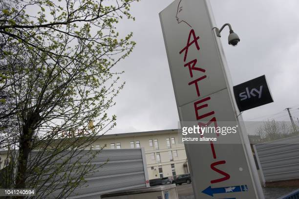 The sign reads 'Artemis' outside the Artemis brother in Berlin, Germany, 13 April 2016. Following a police raid by the local police force, tax fraud...