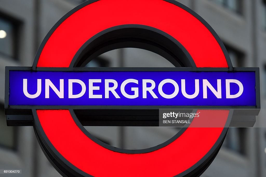 The Signage On St Pauls Underground Station Is Seen In London On