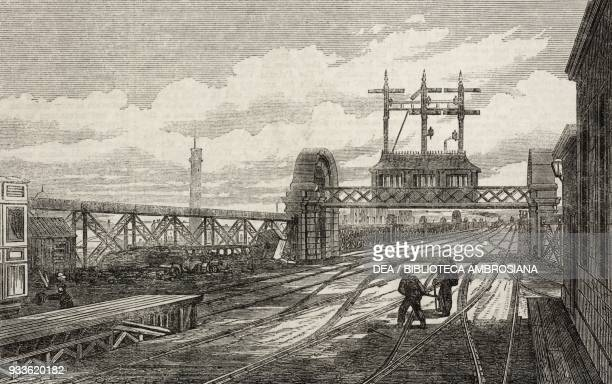 The Signal station on the North end of the bridge CharingCross Railway London England United Kingdom illustration from the magazine The Illustrated...