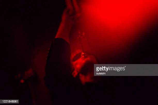 the signal - the trumpet player at the jazzclub - punk music stock pictures, royalty-free photos & images