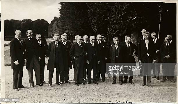 The Signatories of the KelloggBriand Pact together with Representative Ambassadors and Ministers were entertained by the French President are shown...