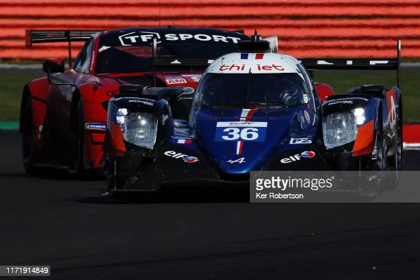 The Signature Alpine Matmut Alpine A470 of Pierre Ragues, Andre Negrao and Thomas Laurent drives during the FIA World Endurance Championship race at...