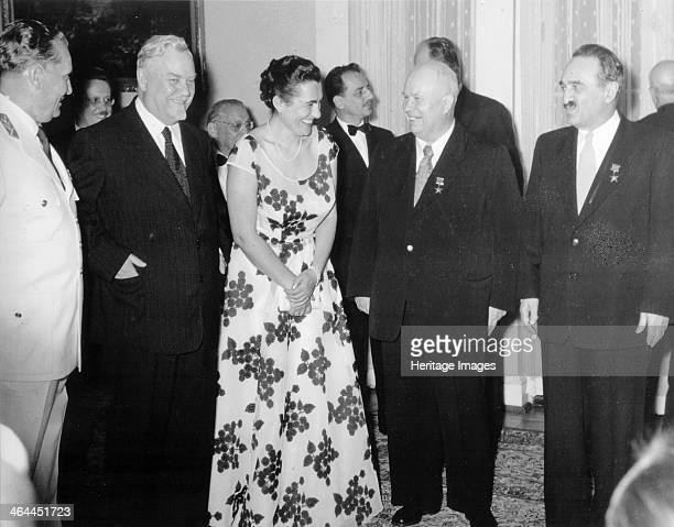 The signing ceremony of the Belgrade Declaration Belgrade Yugoslavia 2 July 1955 The signing of the Declaration by Yugoslav President Josip Broz Tito...