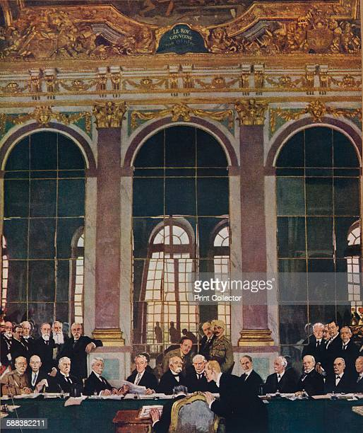 The Signing of Peace in the Hall of MirrorsVersailles 28th June 1919' 1919 After the painting by Sir William Orpen KBE RA From Modern Masterpieces...