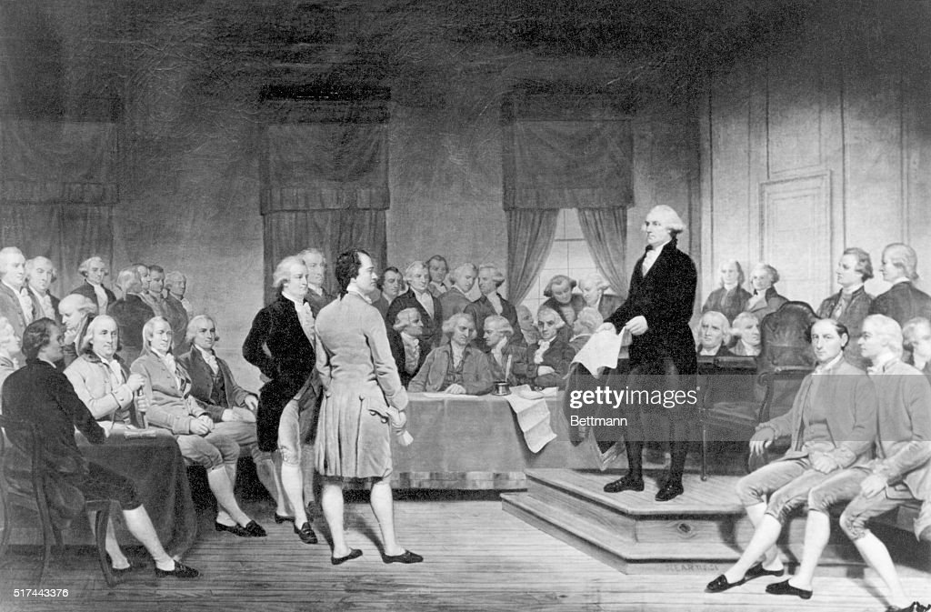 Signing Of The Constitution Of The Us : News Photo