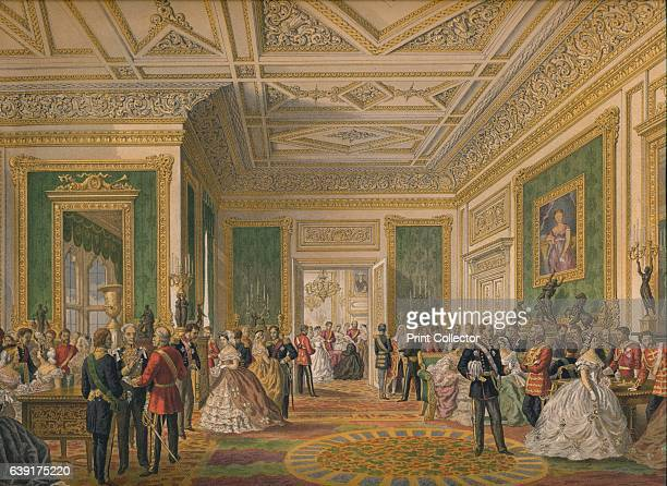 The Signing of the Marriage Attestation Deed', 1863. Edward VII , married Alexandra of Denmark at St George's Chapel, Windsor Castle, 10th March,...