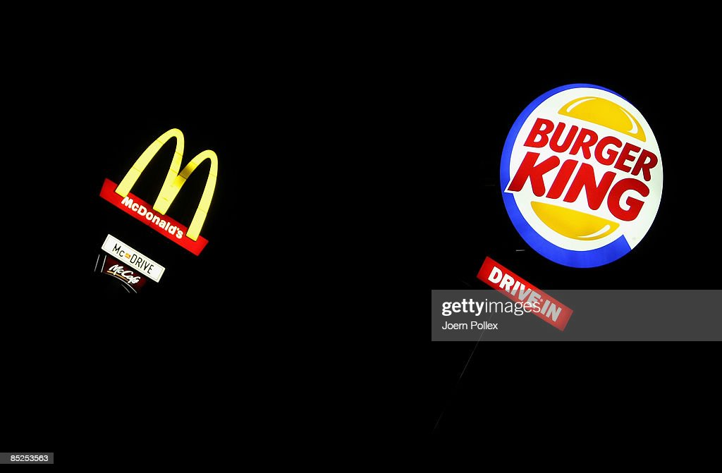 Fast Food Companies Battle For Clients : News Photo