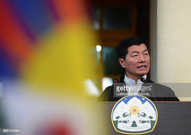 The Sikyong or Prime Minister of the exiled Central Tibetan Administration Lobsang Sangay delivers his annual speech marking the 56th Anniversary of...