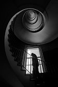 dark black white interior photography monochrome