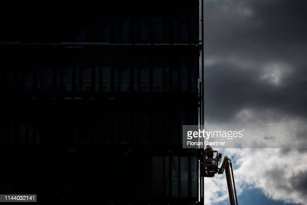 The silhouette of a window fitter is pictured on May 14 2019 in Germany