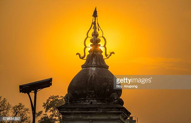 The silhouette of Pashupatinath Temple of Kathmandu, Nepal.