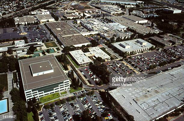 The Silicon Valley location of IBM in San Jose California is seen from the air April 21 2000