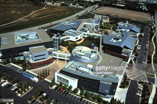 The Silicon Valley location of Silicon Graphics Inc is seen from the air April 21 2000 in Mountain View California