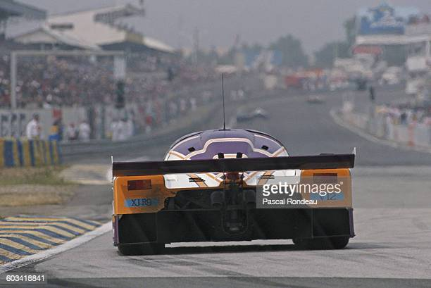 The Silk Cut Jaguar XJR9 LM driven by Johnny Dumfries Jan Lammers and Andy Wallace during the FIA World Sportscar Championship 24 Hours of Le Mans...