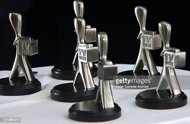 The Silver Logie statues at the 2004 TV Week Logie Award nominations at Quay Restaurant on March 22 2004 in Sydney Australia