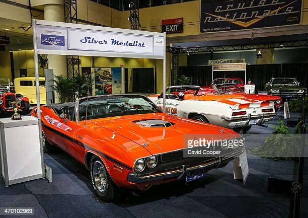 TORONTO ON FEBRUARY 15 The Silver Medalist 1970 Dodge Challenger R/T Convertible owned by David Stubbs of Oakville ON on display in Castrol's Muscle...