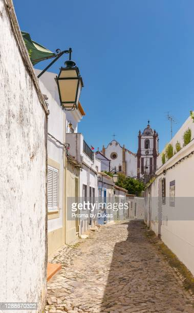 The Silves Cathedral at the end of an alley, Silves, Portugal.