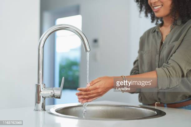 the simplest way to get rid of germs - running water stock pictures, royalty-free photos & images